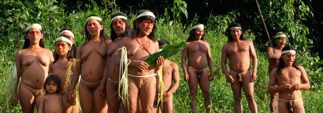 Waorani villagers
