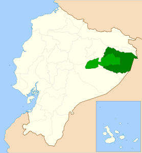 Yasuni Reserve (dark green) and with Waorini Ethnic Reserve (light)