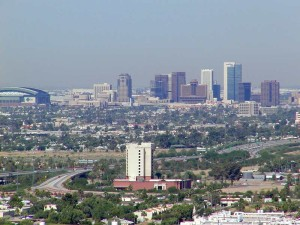 Phoenix, Arizona is one of the threats to the course of the Colorado River